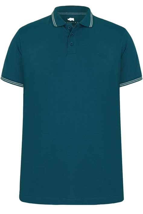 teal color shirt badrhino teal blue textured tipped polo shirt
