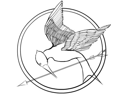 printable hunger games coloring pages mockingjay katniss colouring pages