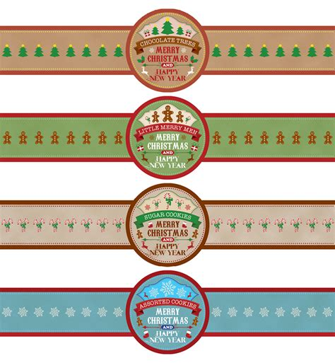 Cookie Jar Labels For Christmas Fun For Christmas Cookies Label Template