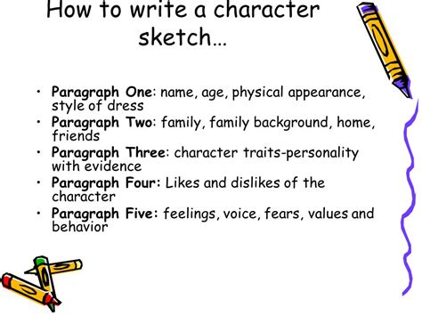 Exle Of Character Sketch Essay by Writing A Character Sketch Essay The Oscillation Band