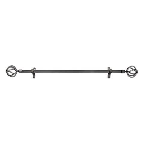 decorative metal curtain rods black nickel adjustable decorative curtain rods all metal