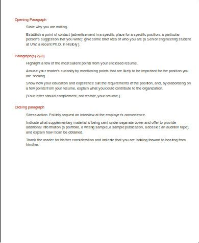 cover letter structure sle 7 exles in word pdf