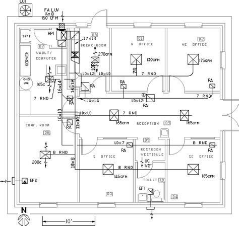 air duct layout design duct layout drawings