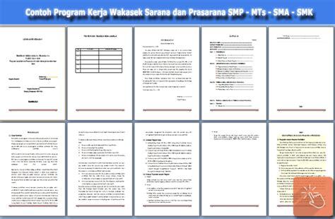 format laporan sarana prasarana sekolah download program kerja wakasek sarana dan prasarana smp