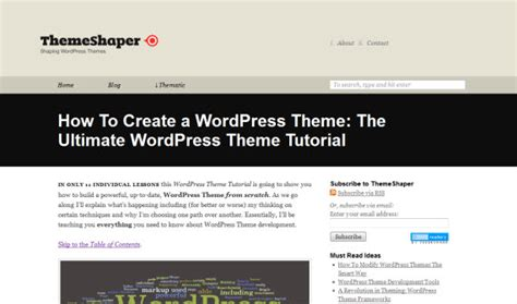 how to create wordpress themes from scratch part 1 the ultimate roundup of wordpress tutorials themes and