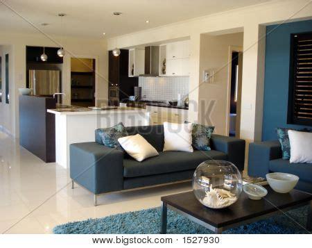 5 Metropolitan Lounge Kitchen by Blue Open Plan Lounge Kitchen Image Photo Bigstock