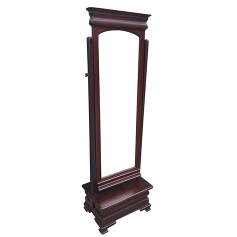 Cheval Mirror With Drawer by Solid Mahogany Wood Reproduction Cheval Mirror With Drawer Antique Style Ebay