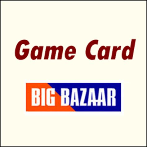 Big Bazaar Gift Card - send game card at bigbazaar worth rs 1000 to india hyderabad gifts2surprise in