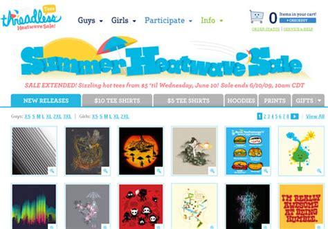 Threadless 10 Sale by Threadless Summer Sale Extended Reviewer