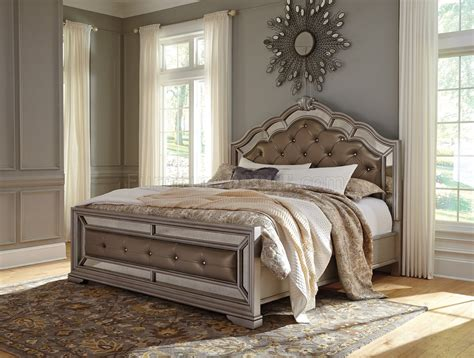 birlanny bedroom   silver finish  ashley furniture