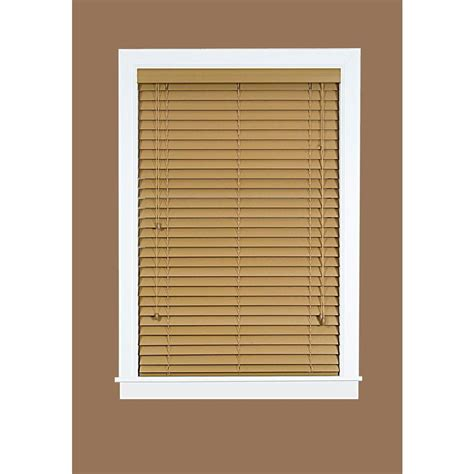 Mahogany Faux Wood Blinds Achim Mahogany Cordless 2 In Faux Wood Madera Falsa