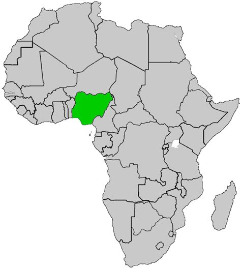 nigeria africa map nigeria map africa