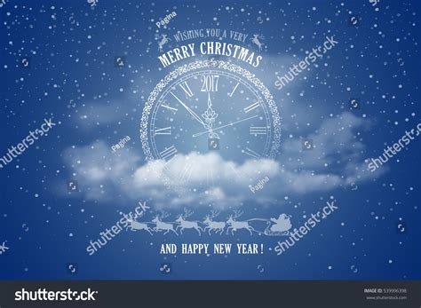 new year coming circle clock inscription stock vector
