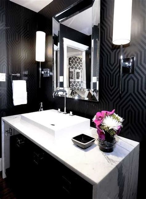 black bathroom walls chic black bathroom interiors