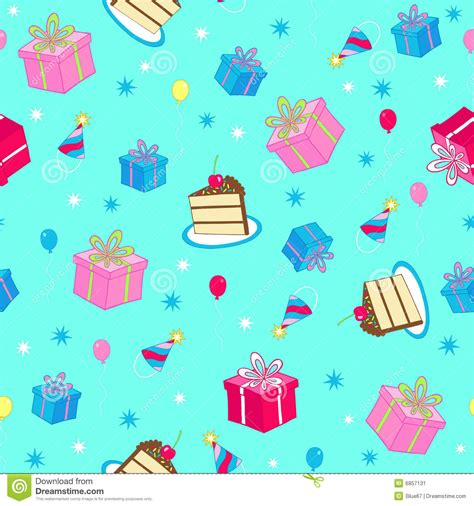 cake background pattern vector birthday party seamless repeat pattern vector stock image