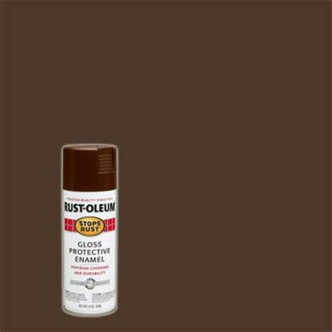 rust oleum stops rust 12 oz protective enamel gloss leather brown spray paint 7775830 the