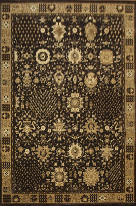 Black And Gold Rugs by Ziggler Black And Gold Rug Traditional Machine Made