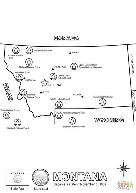 Montana Map Coloring Page Free Printable Coloring Pages Montana Coloring Pages