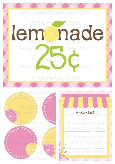 printable lemonade recipes 8 today pink lemonade stand printables instant download
