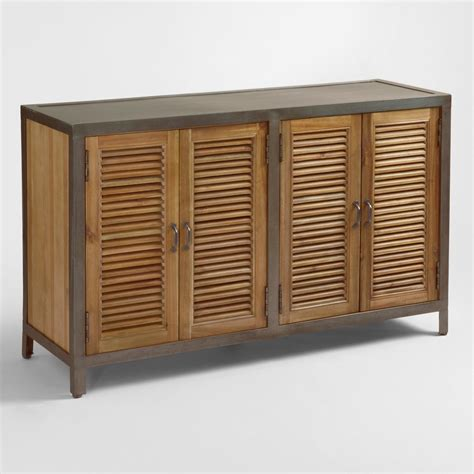 Kitchen Cabinet Doors Online Double Shutter Doors Holbrook Sideboard World Market