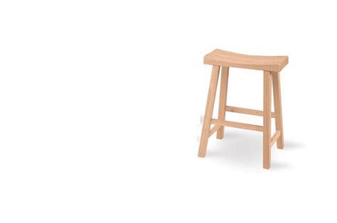 Unfinished Saddle Stool 24 by International Concepts Saddle Seat Stool 24 Quot Seat Height