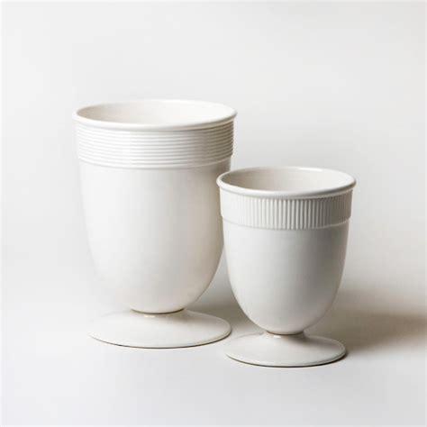 Modern White Vases by Global Views Banded Ceramic White Vase Modern Vases
