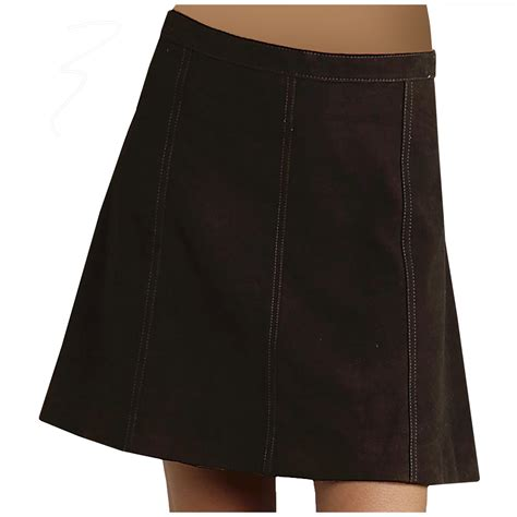 stetson gored suede skirt for in brown