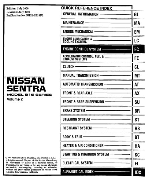 car maintenance manuals 2001 nissan sentra on board diagnostic system 1994 nissan sentra wiring diagram 1994 nissan sentra alternator wiring diagram mifinder co