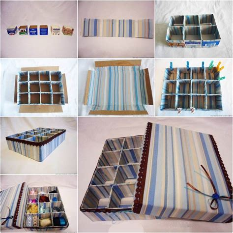 diy storage box ideas how to diy cardboard storage box with dividers