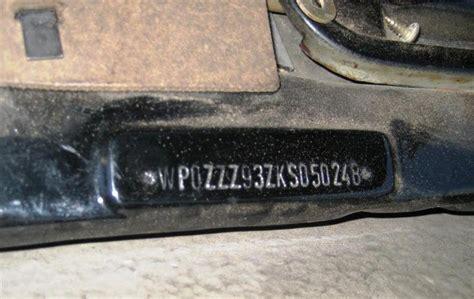 vin  engine number  pelican parts forums