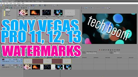 sony vegas pro tutorial how to put pictures over videos how to add a watermark logo text on your video tutorial