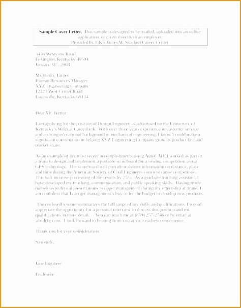6 mechanical engineer cover letter exle free sles