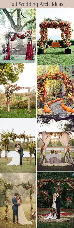 7 Ideas For A Fall Wedding by Best 25 Wedding Arbor Decorations Ideas On