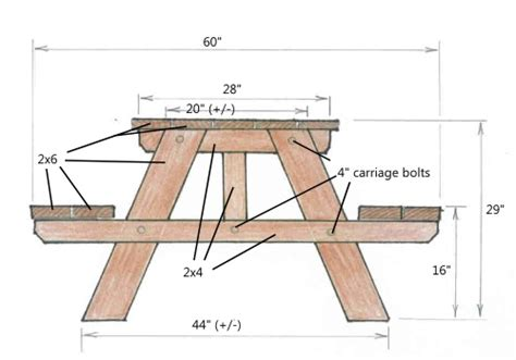 picnic bench plans download picnic table plans 2x6 plans free