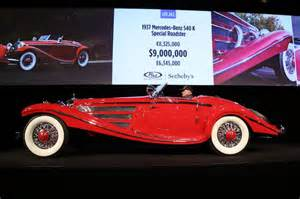 Mercedes 540k Special Roadster Mercedes Sold At Auction In 2016 Photos Analysis