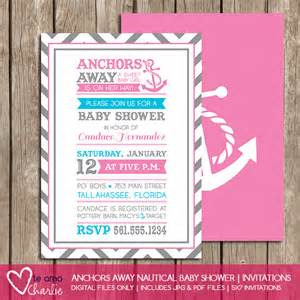 nautical baby shower invitations for palm