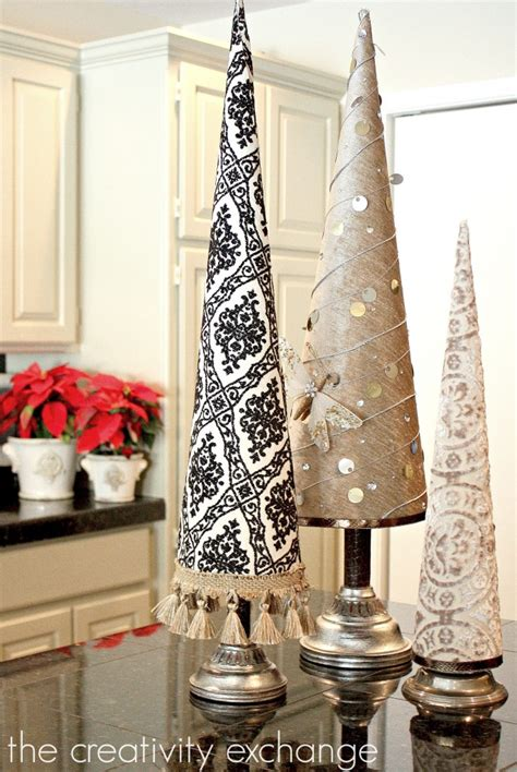 how to make fabric trees fabric covered poster board tree cones