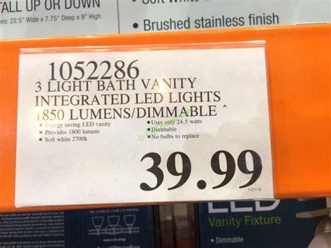 feit electric led 3 light bath vanity costcochaser feit electric 3 light bath vanity integrated led lights