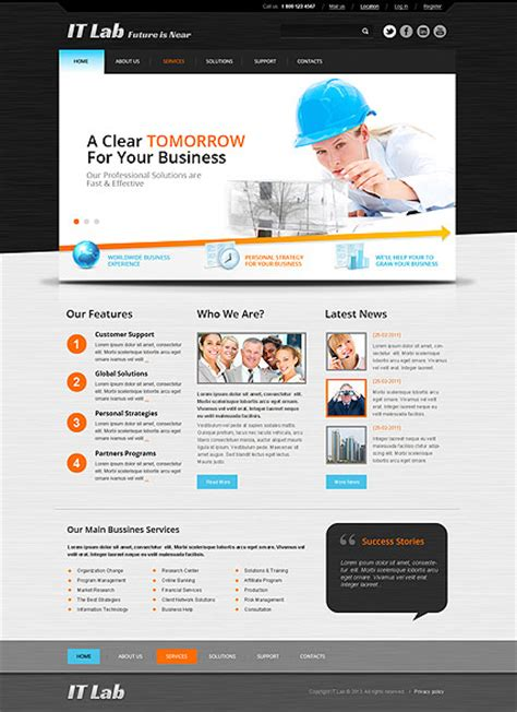It Laboratory Html Website Template Best Website Templates Laboratory Website Templates