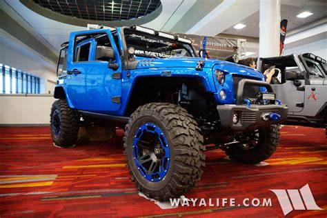 hydro blue jeep 2015 sema rugged ridge hydro blue jeep jk wrangler unlimited