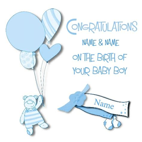Gift Card Messages For New Baby Boy - new baby boy greeting card