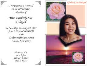 party invitation message ideas debut invitations message