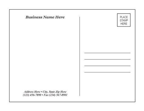 Post Card Print Template by 40 Great Postcard Templates Designs Word Pdf