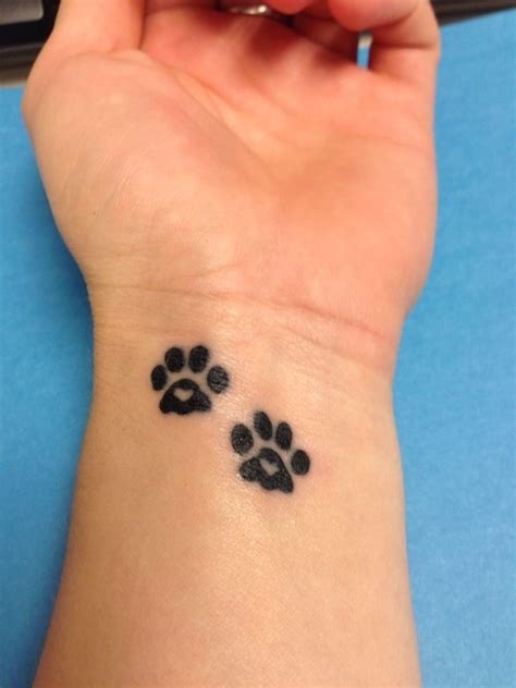 dog footprint tattoo 11 paw designs pretty designs