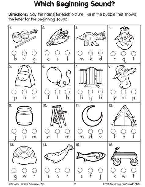 free printable worksheets beginning sounds teacher created resource which beginning sound