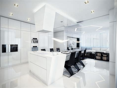 modern kitchen and dining room design modern black and white dining room and kitchen with best lighting decorations interior design