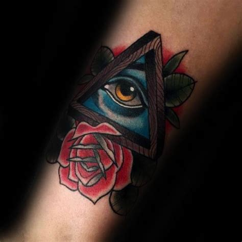 tattoo eye new school 60 penrose triangle tattoo designs for men impossible