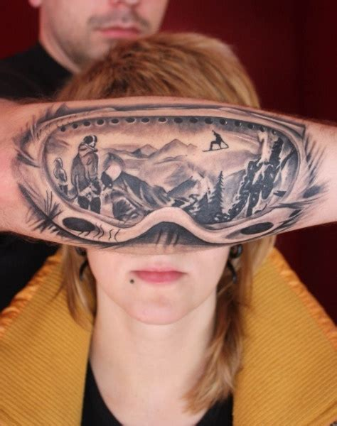 reflection tattoos interesting idea for a goggles with reflection of