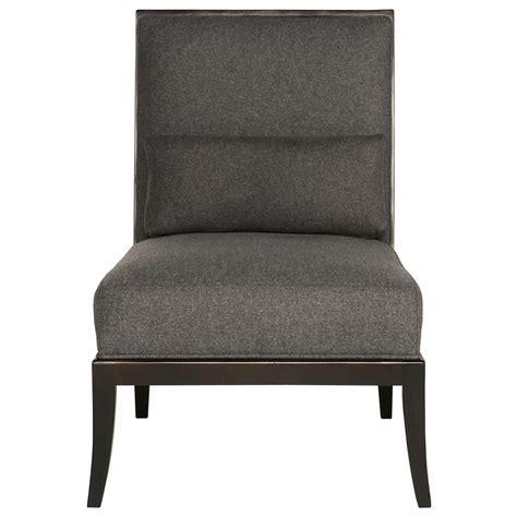 Armless Living Room Chairs Adley Modern Classic Mocha Wood Grey Armless Living Room Chair Kathy Kuo Home