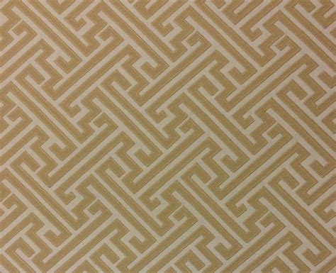 by the yard fabric ballard designs milina gold geometric greek key designer